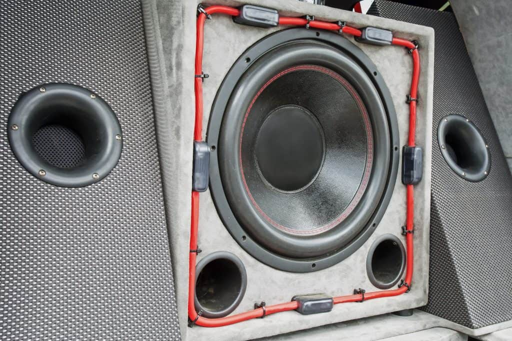 subwoofer in trunk