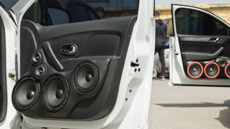 Speakers in car door